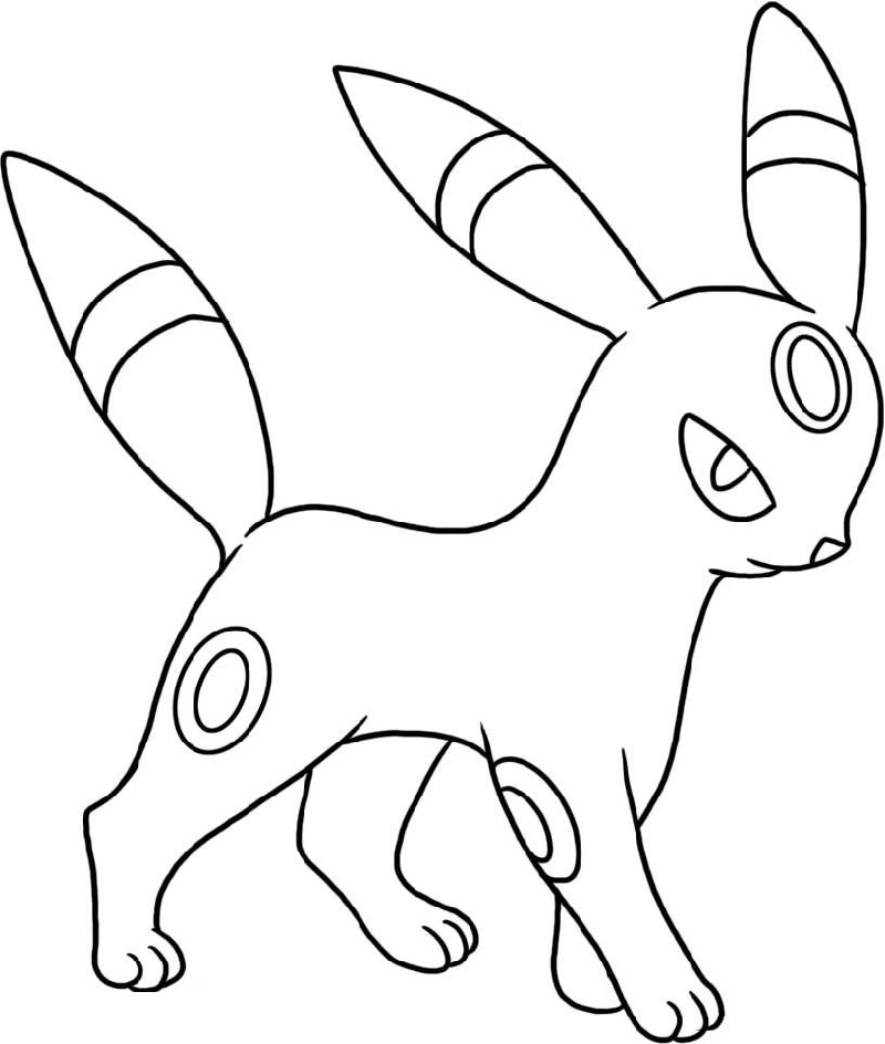 umbreon coloring pages 2