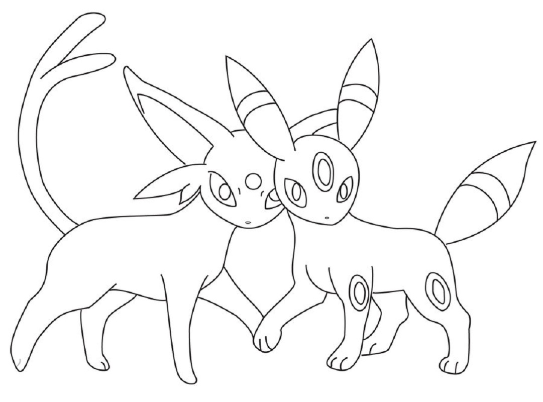 umbreon coloring pages 4