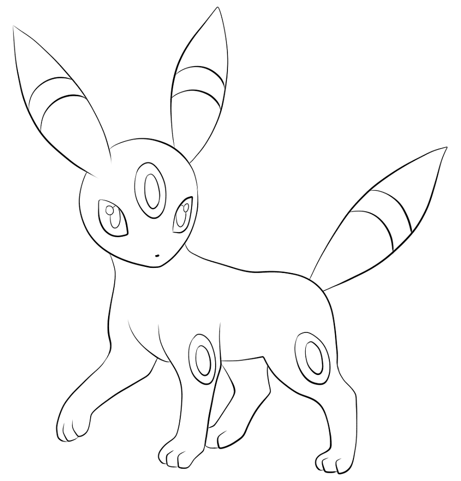 umbreon coloring pages 5