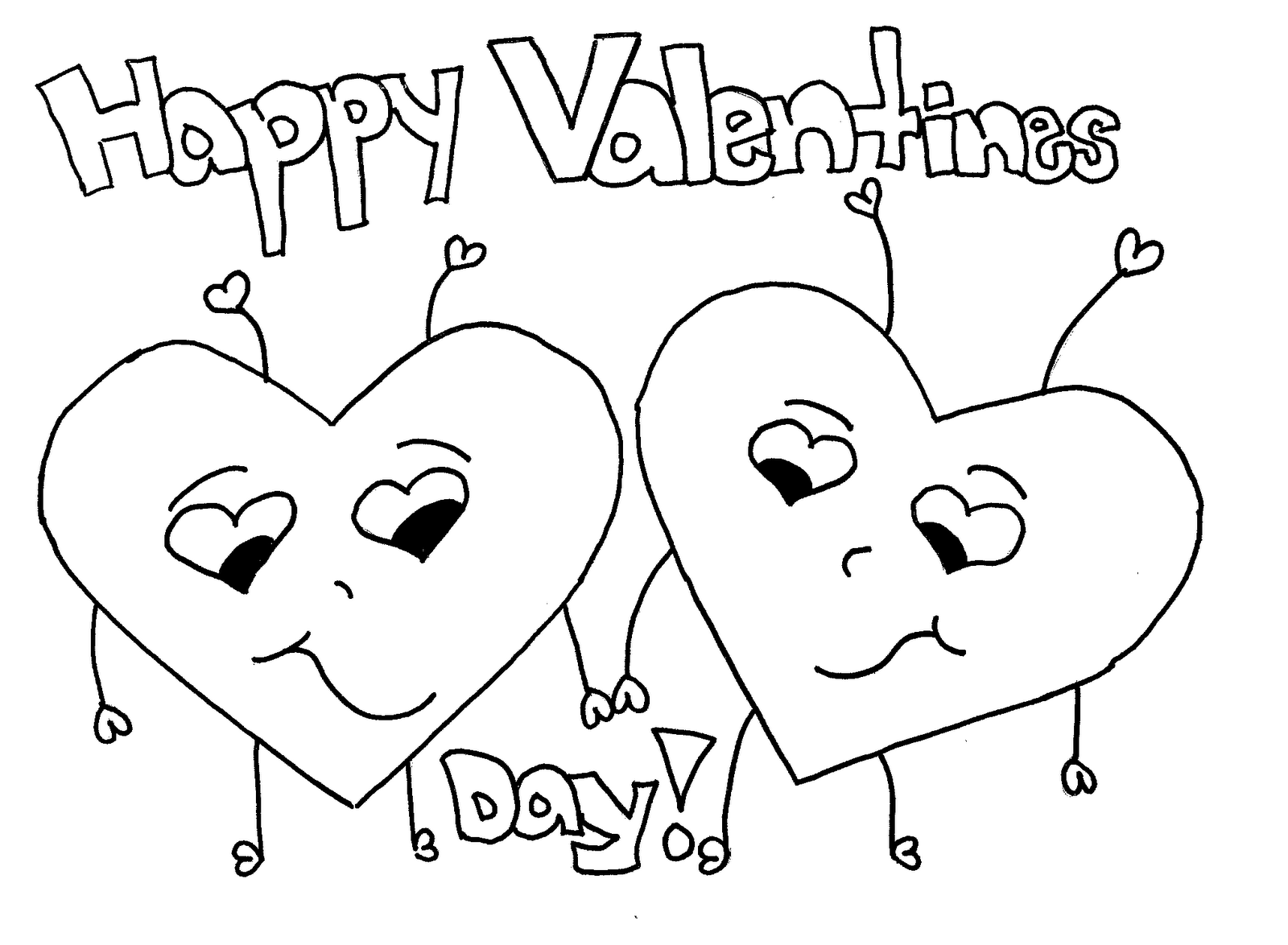 valentines day coloring pages 1