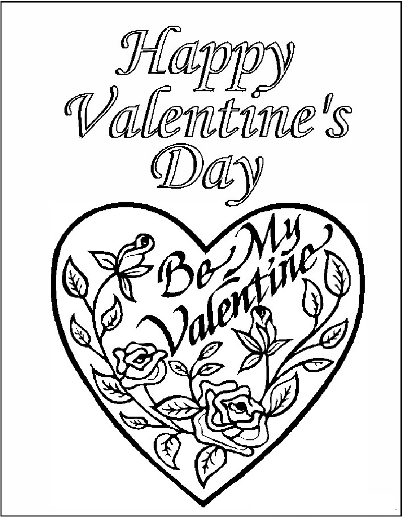 valentines day coloring pages 2