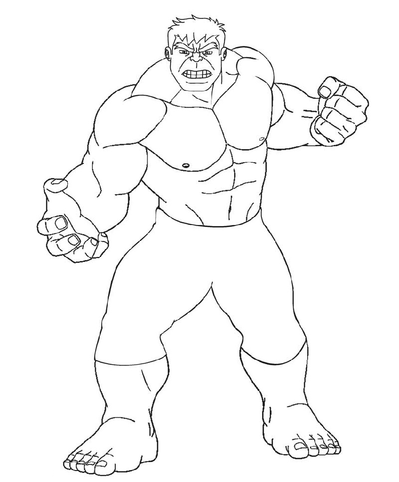 Hulk Coloring Pages for Exercise | Educative Printable