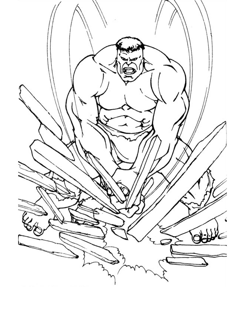Hulk coloring pages 5