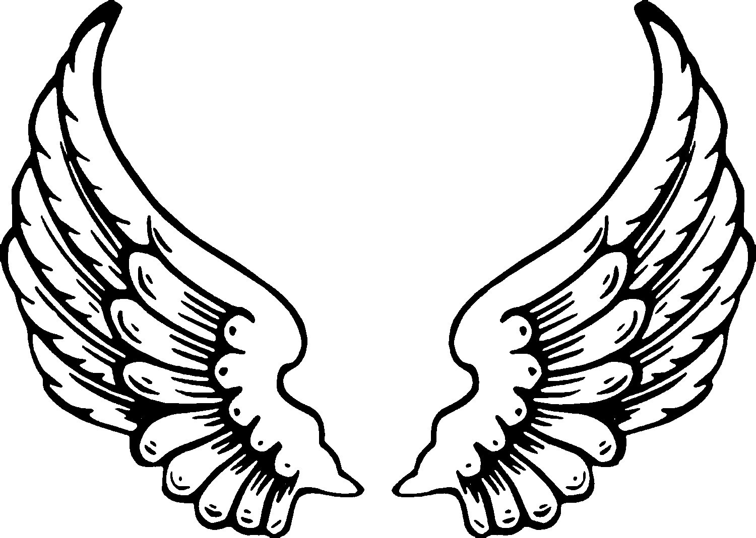 angel wings coloring pages 1