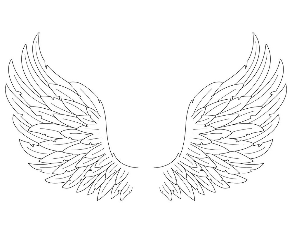 angel wings coloring pages 2