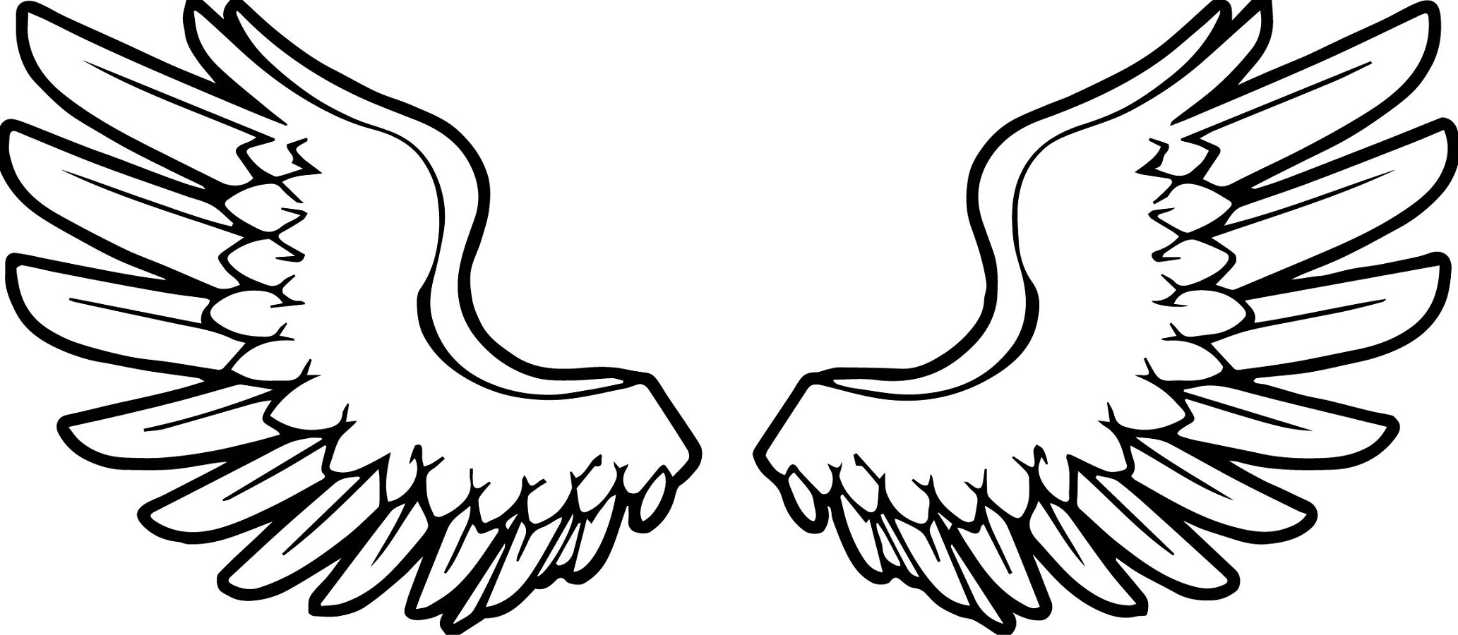 angel wings coloring pages 3