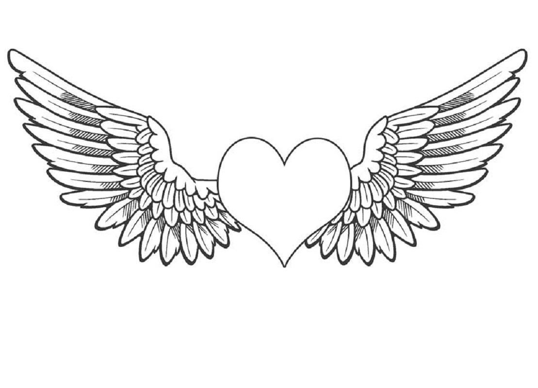 angel wings coloring pages 4