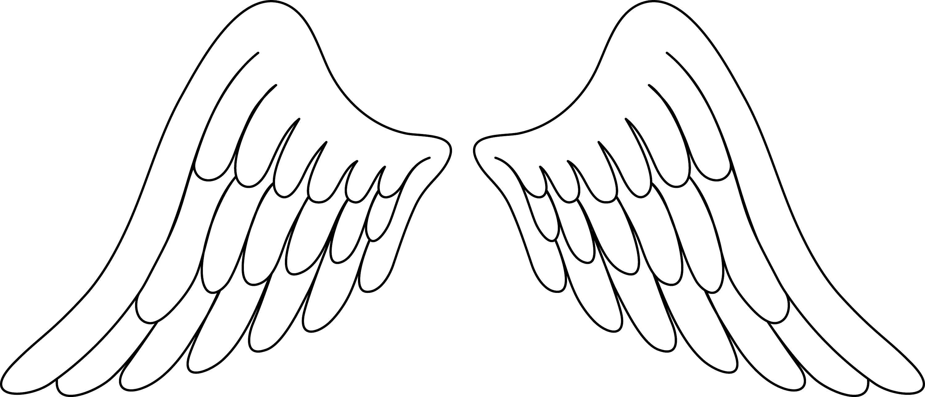 angel wings coloring pages 5
