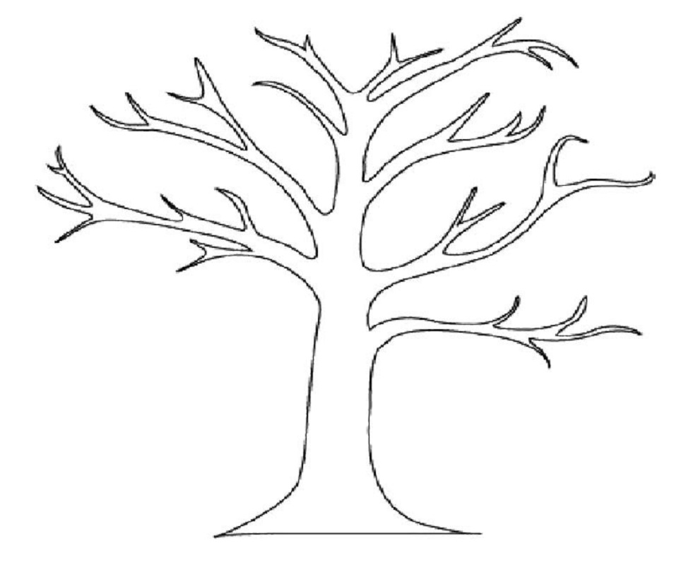 bare tree coloring page 1