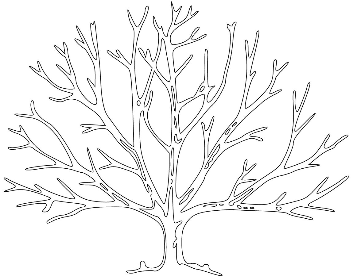bare tree coloring page 3