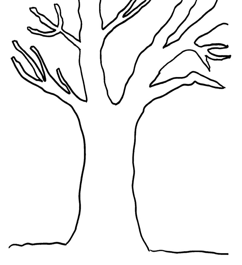 bare tree coloring page 4