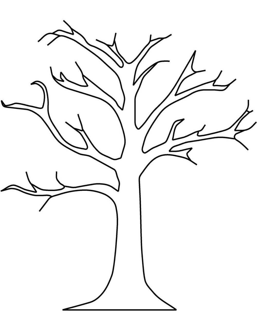 bare tree coloring page 5