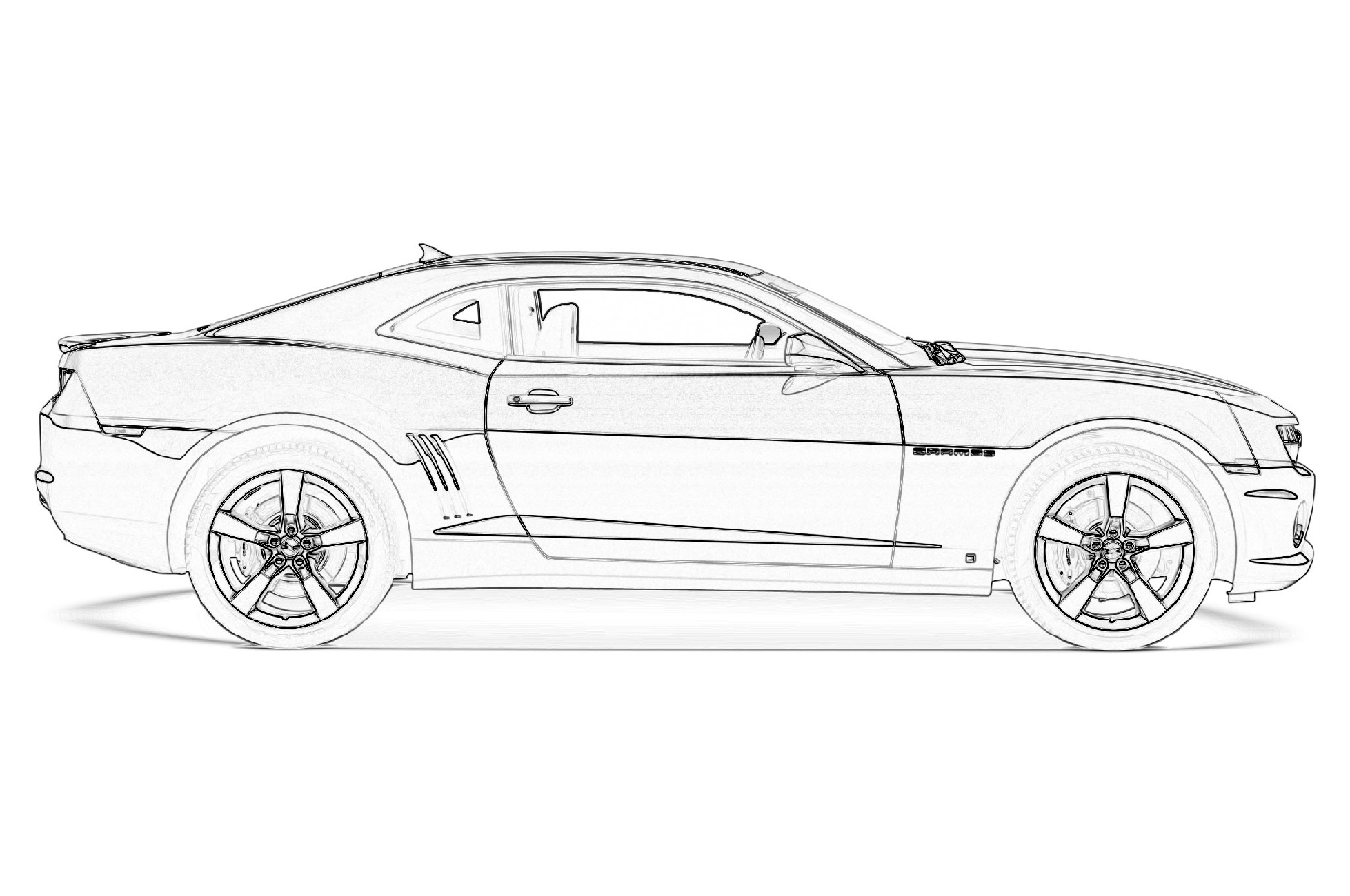 camaro coloring pages 1