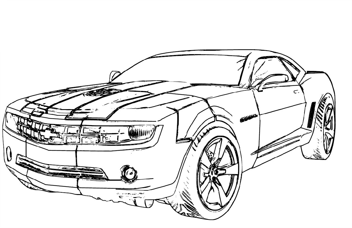 camaro coloring pages 2