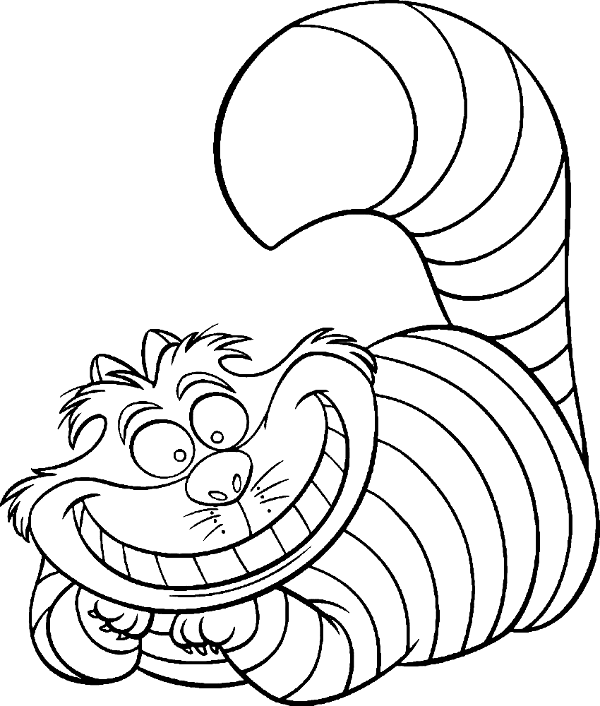 cheshire cat coloring pages 1
