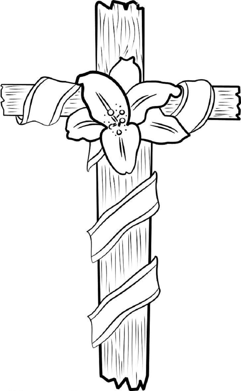 cross coloring pages 2