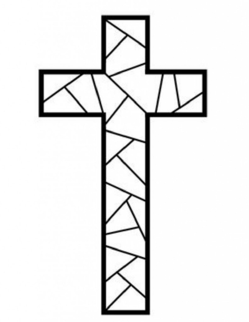 cross coloring pages 3
