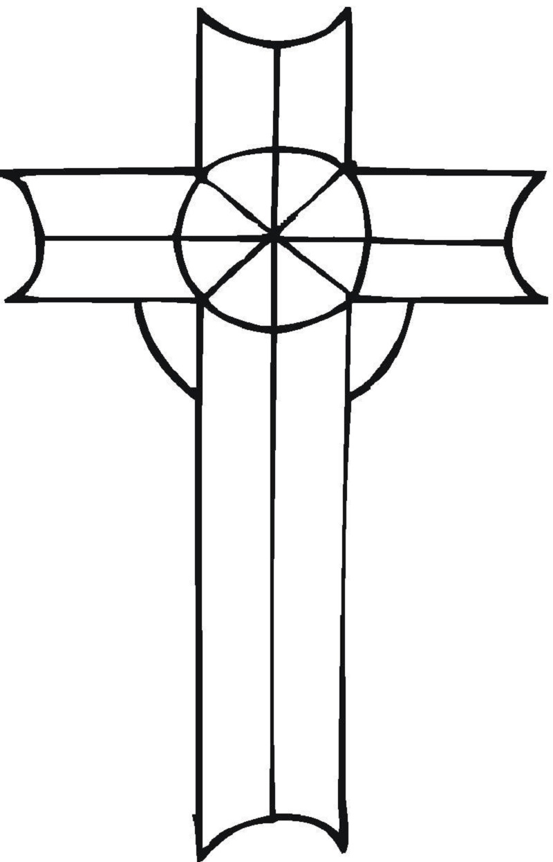 cross coloring pages 5