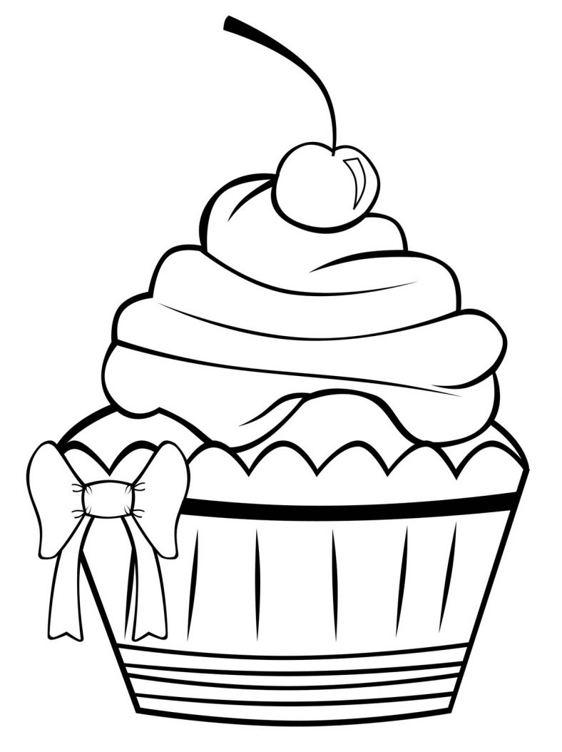 cupcake coloring pages cupcake 1