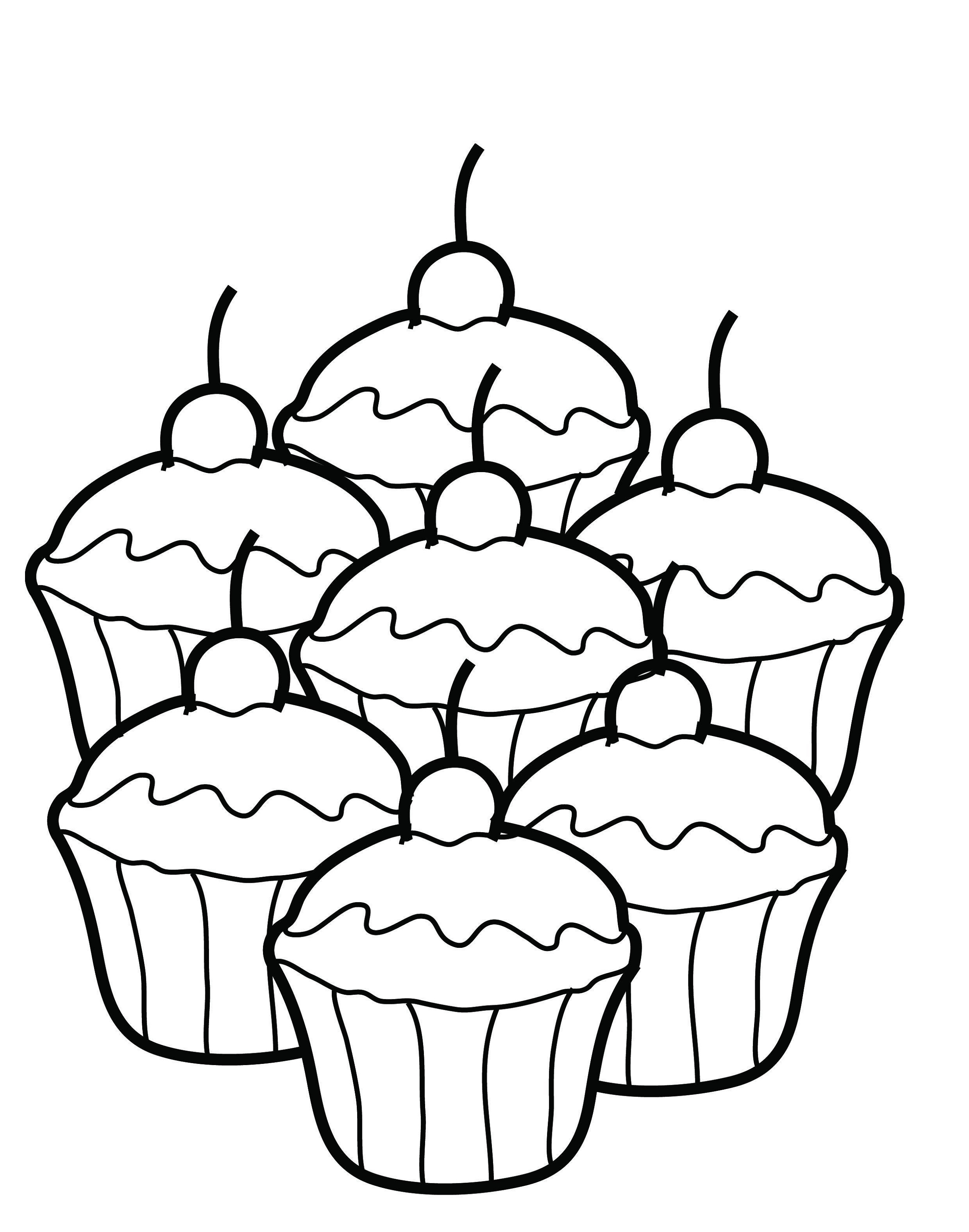 cupcake coloring pages cupcake 2