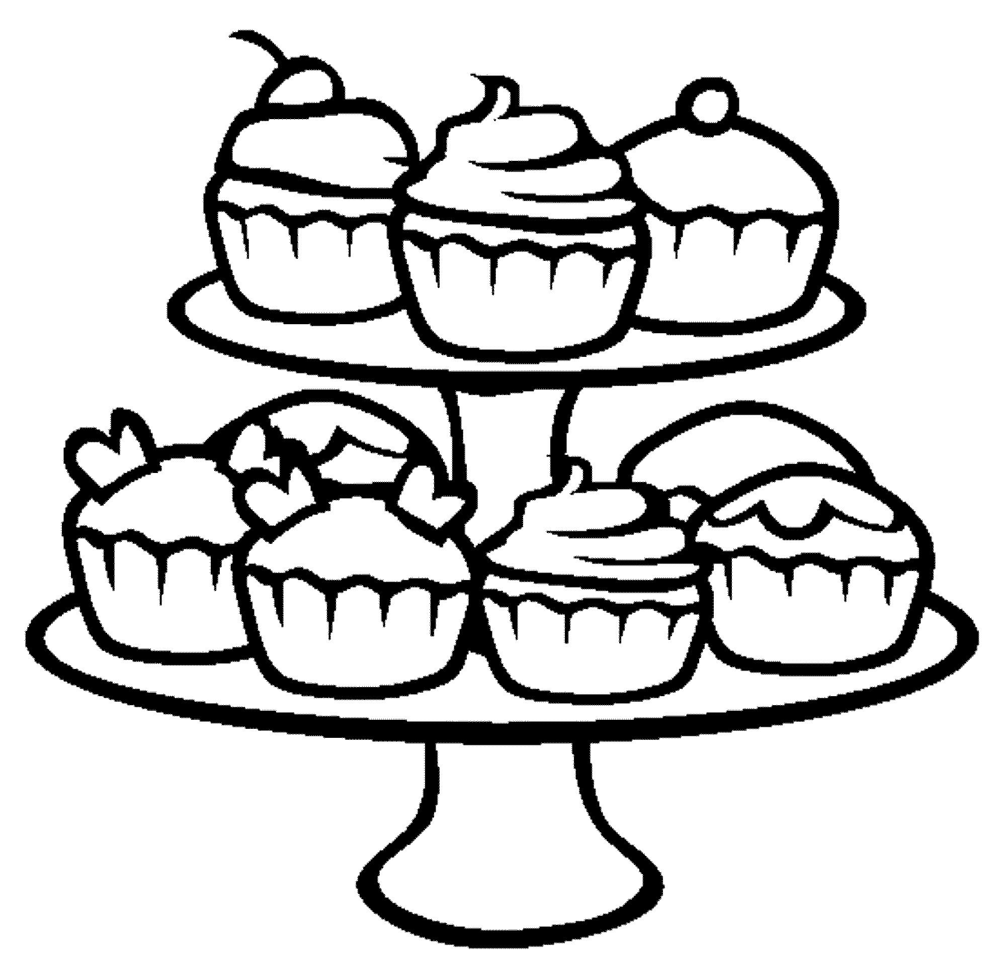 cupcake coloring pages cupcake 5