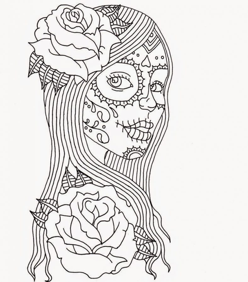 day of the dead coloring pages 1