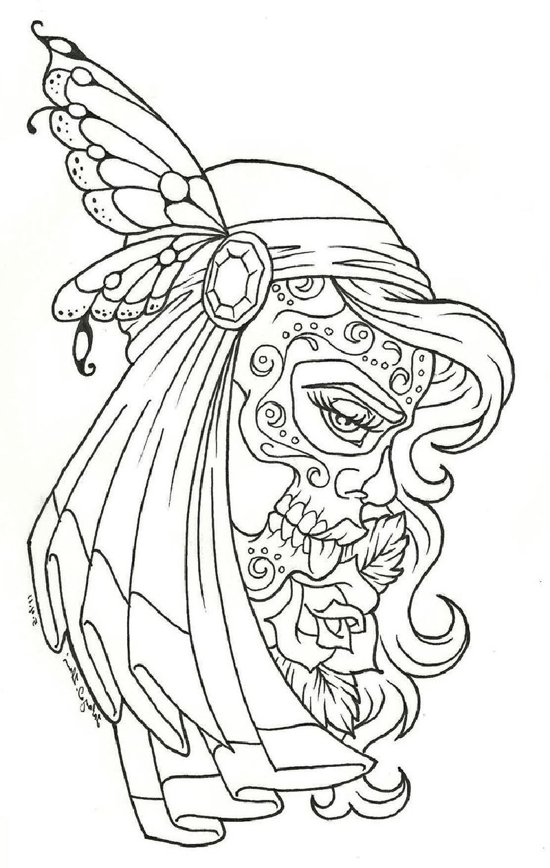 day of the dead coloring pages 3