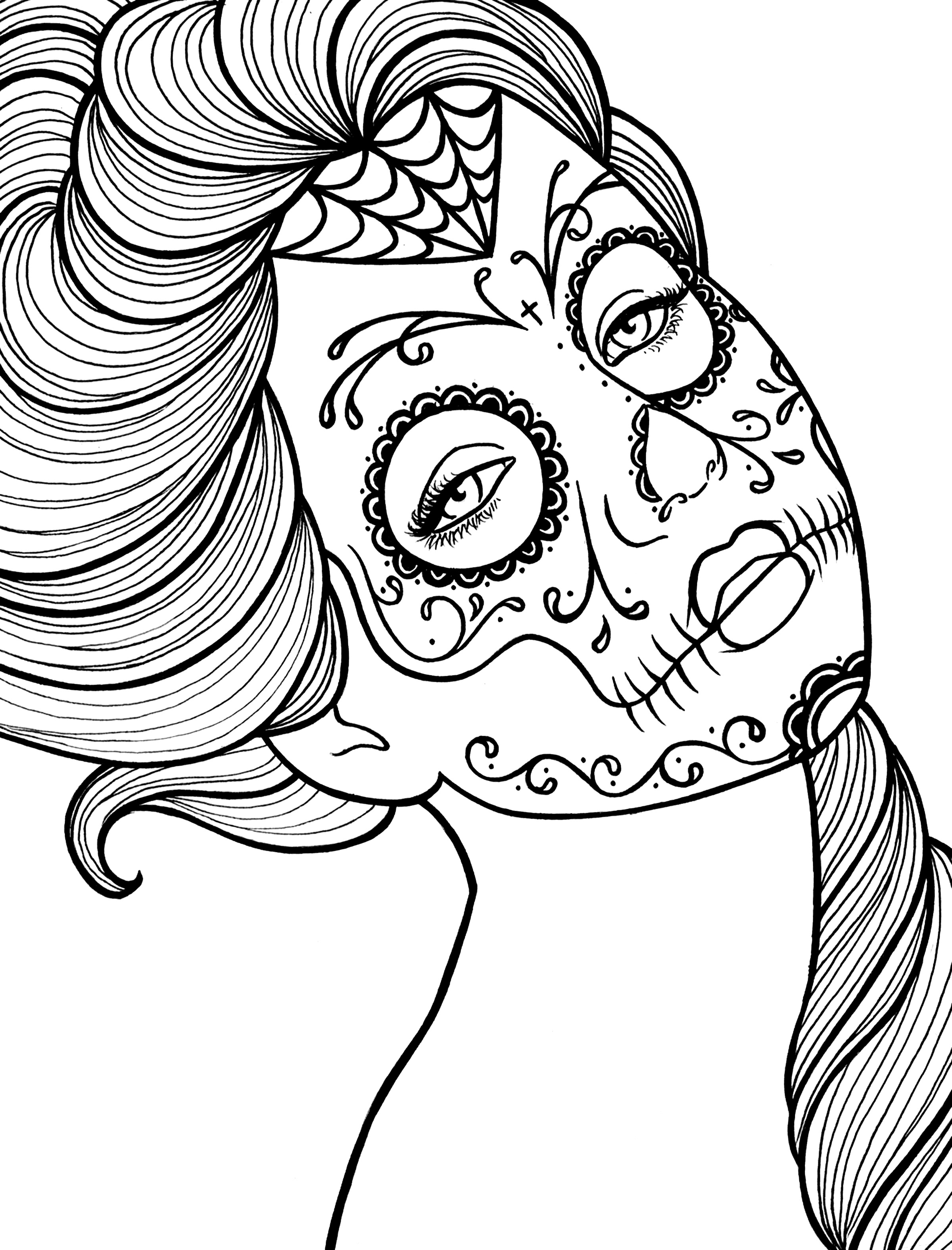 day of the dead coloring pages 5