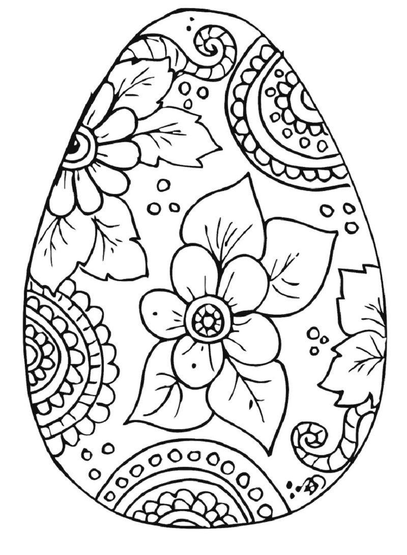 easter egg coloring pages 3
