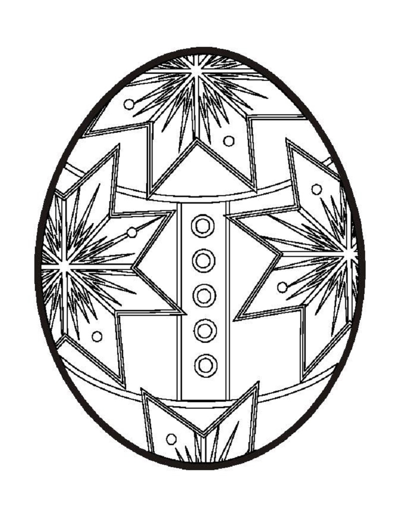 easter egg coloring pages 5