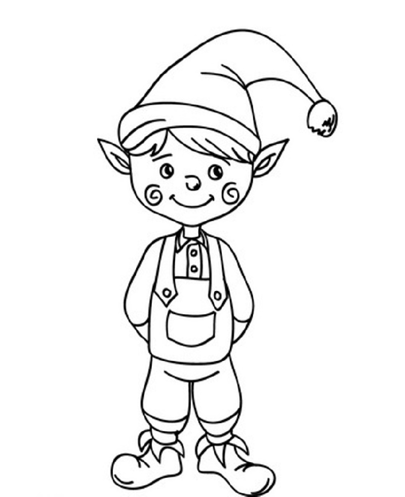 elf coloring pages 1