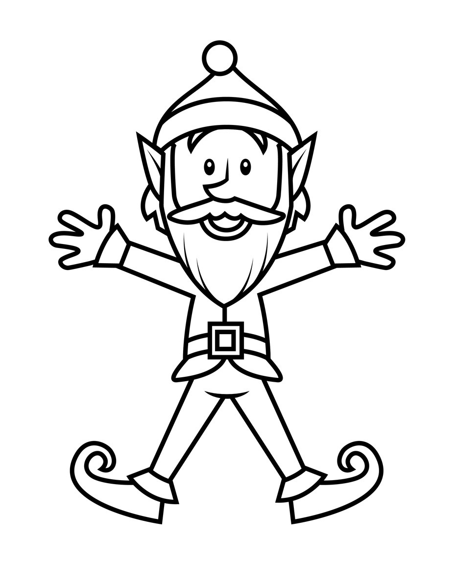 elf coloring pages 2