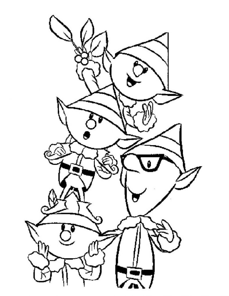 elf coloring pages 3