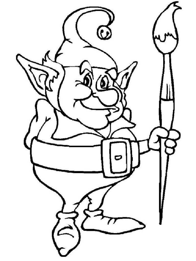 elf coloring pages 4