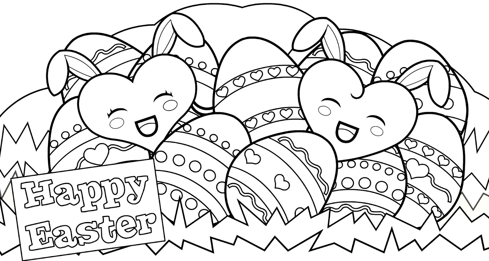 free easter coloring pages 1
