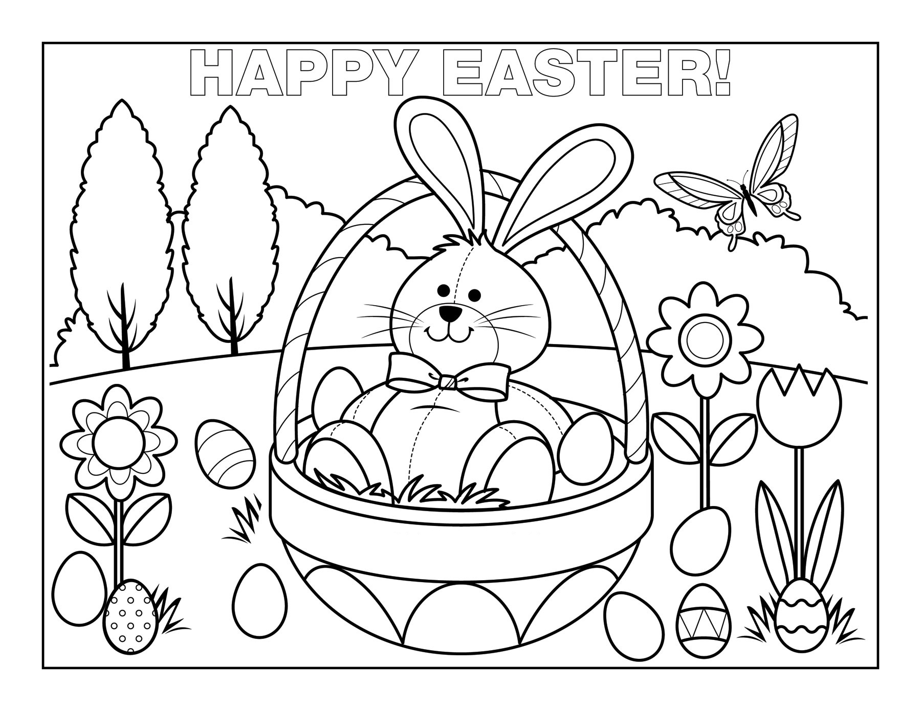 free easter coloring pages 3