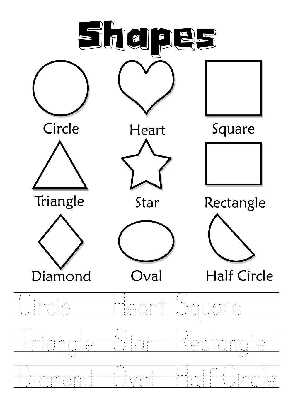 free worksheets for kids 1