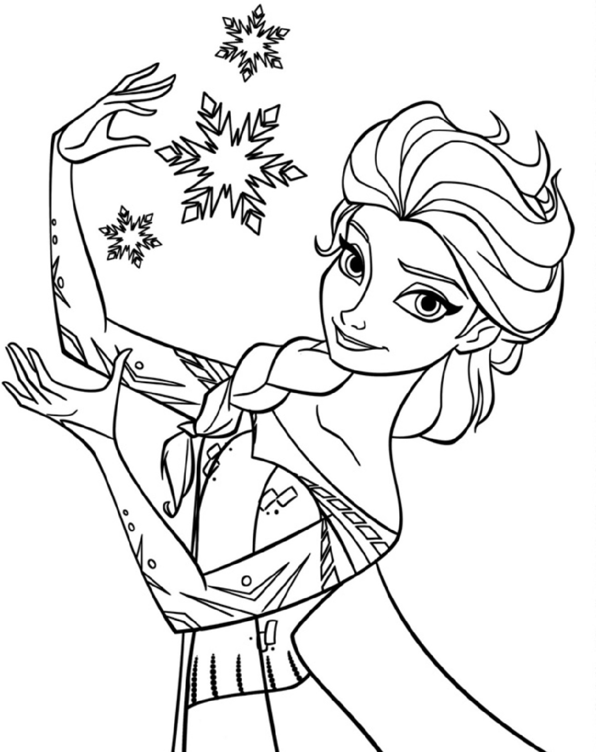 frozen coloring pages 4