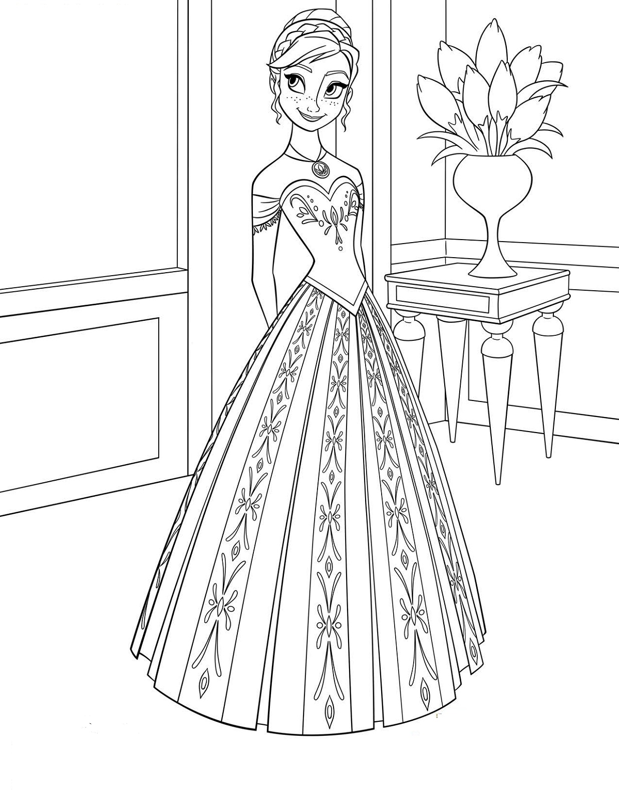 frozen coloring pages 5