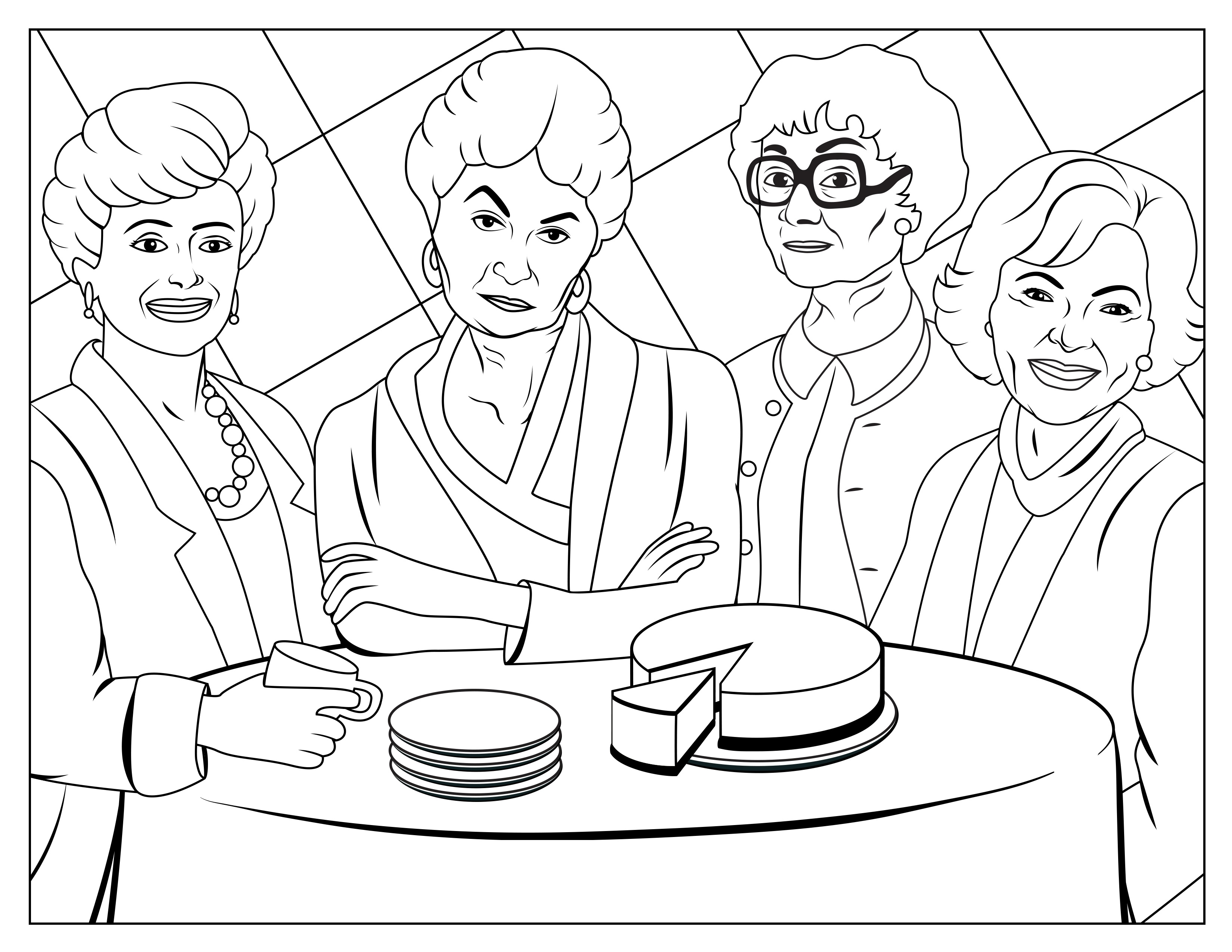golden girls coloring book 1