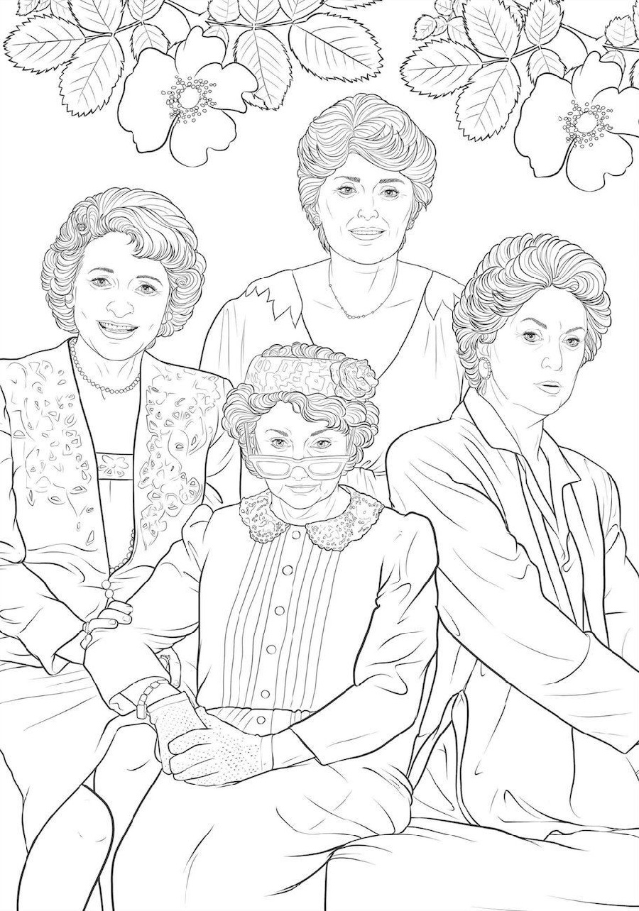 golden girls coloring book 2