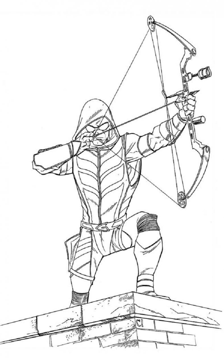 green arrow coloring pages 5