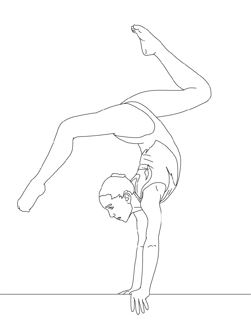 gymnastics coloring pages 2