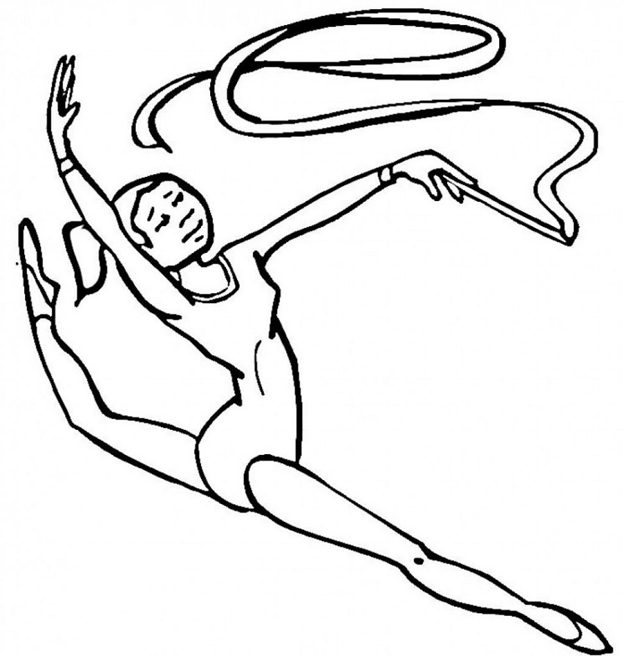 gymnastics coloring pages 3