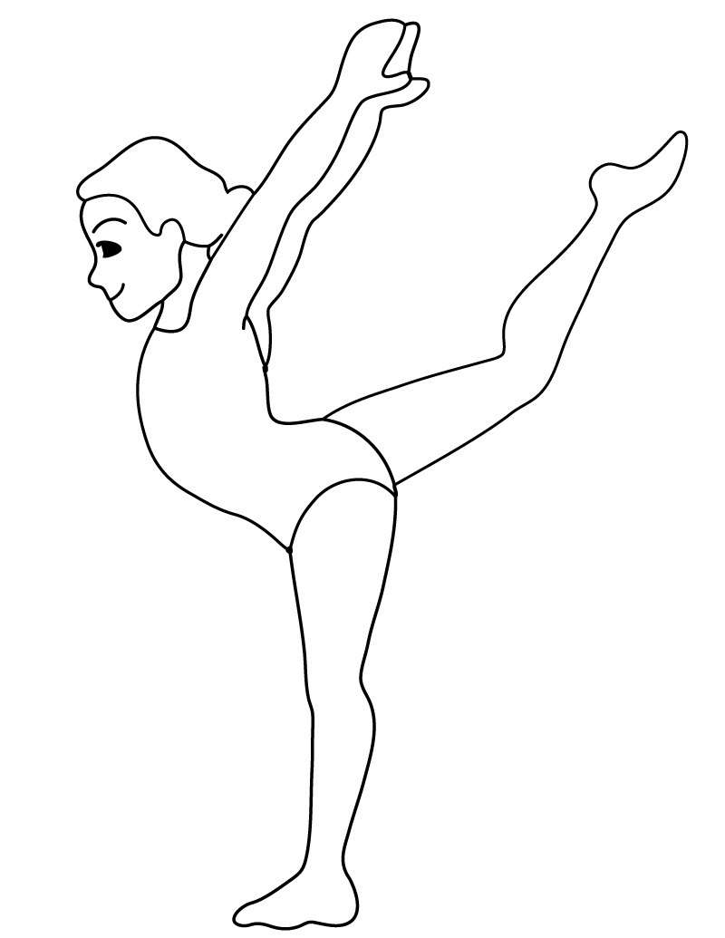 gymnastics coloring pages 4