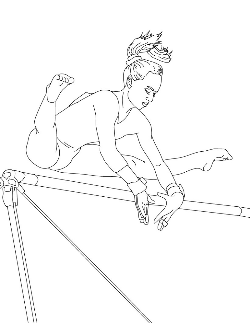 gymnastics coloring pages 5