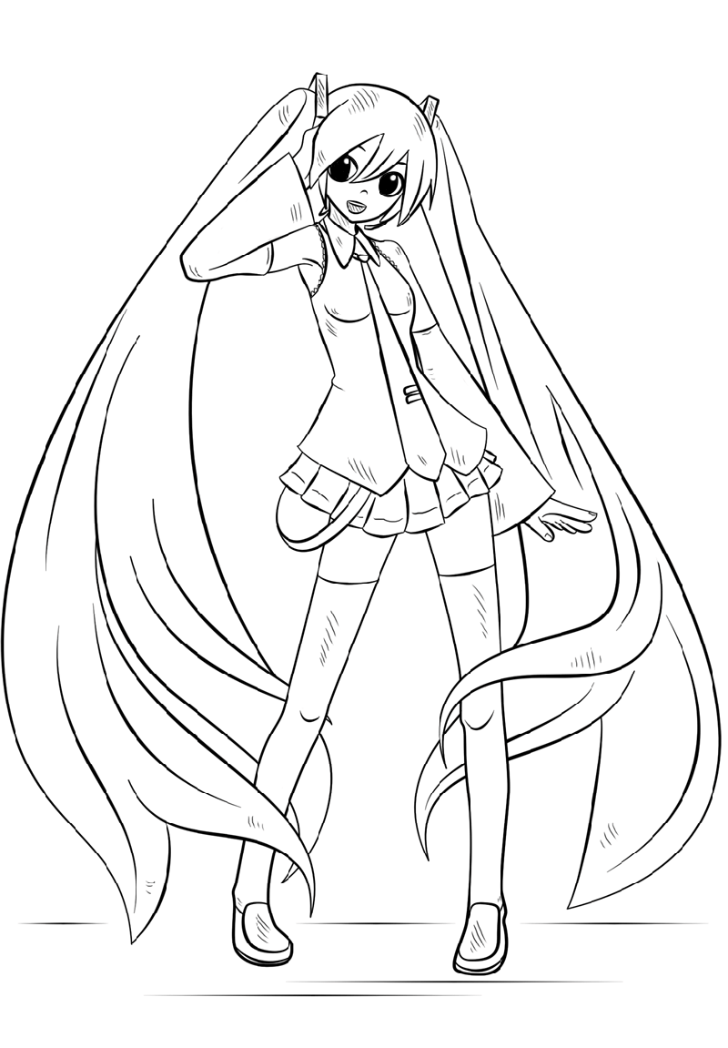 hatsune miku coloring pages 1