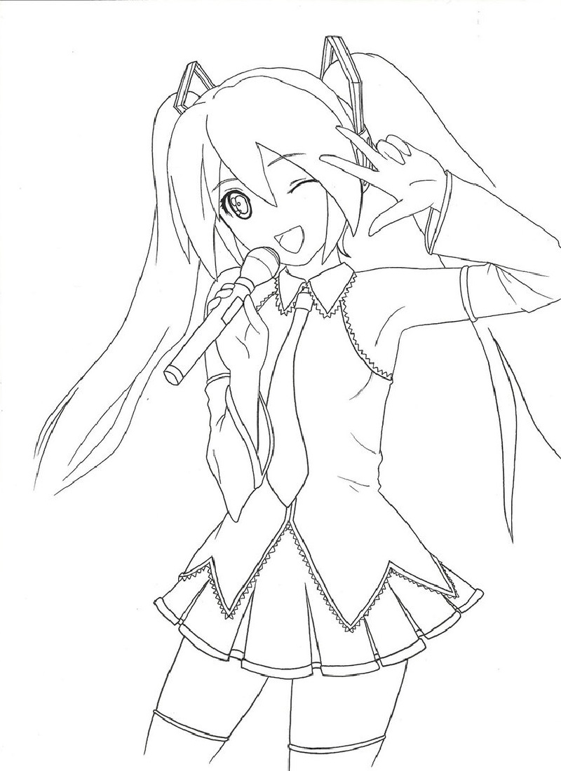 hatsune miku coloring pages 2