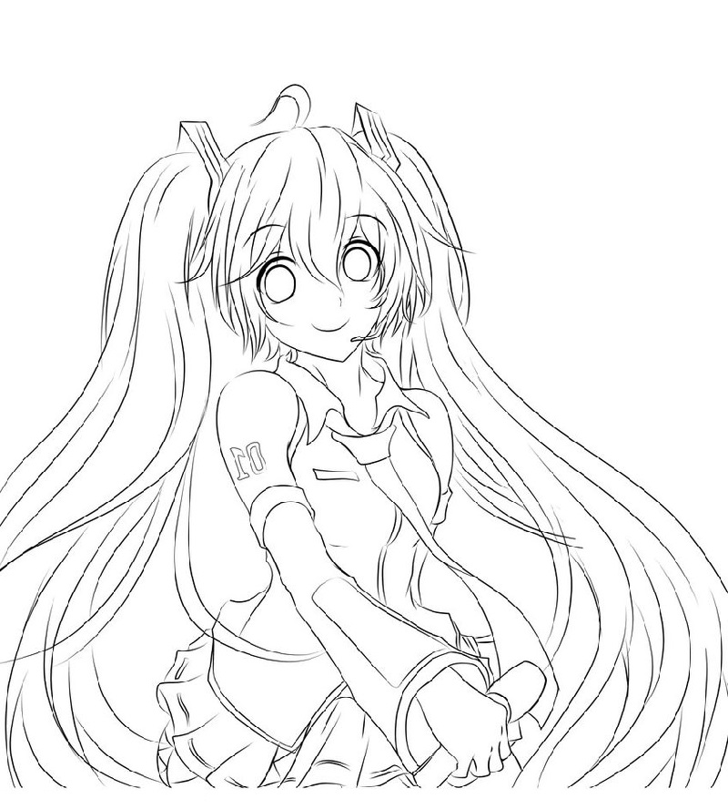 hatsune miku coloring pages 3