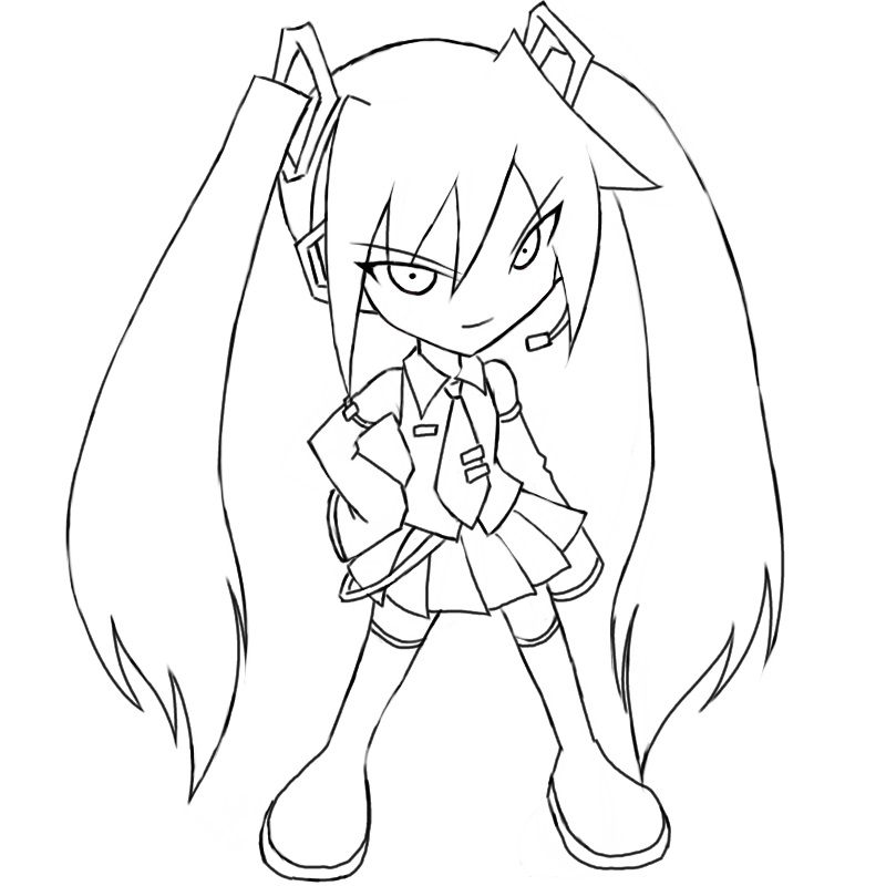 hatsune miku coloring pages 4